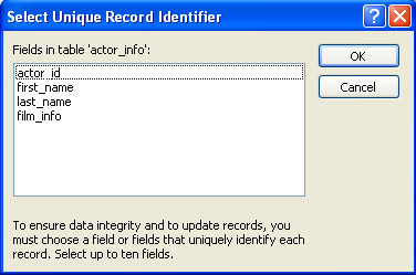 идентификатор в таблице ms sql